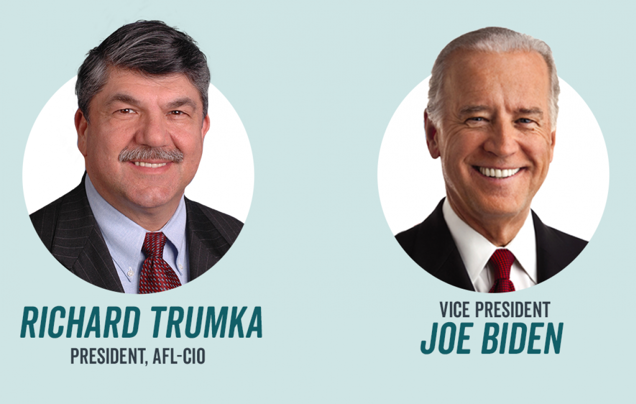 Richard Trumka and Joe Biden